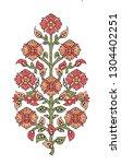 Mughal Flower Motif White Ground