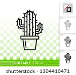 cactus thin line icon. outline...   Shutterstock .eps vector #1304410471