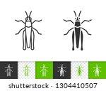 grasshopper black linear and... | Shutterstock .eps vector #1304410507