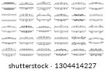 text frame thin line set.... | Shutterstock .eps vector #1304414227