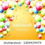happy birthday greeting card... | Shutterstock .eps vector #1304419474