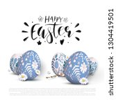 romantic easter background with ... | Shutterstock .eps vector #1304419501