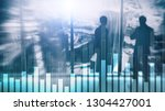 business and finance graph on... | Shutterstock . vector #1304427001