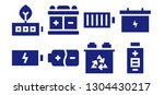 recharge icon set. 8 filled... | Shutterstock .eps vector #1304430217