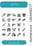 battle icon set. 25 filled... | Shutterstock .eps vector #1304430277