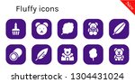 fluffy icon set. 10 filled... | Shutterstock .eps vector #1304431024