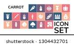 carrot icon set. 19 filled... | Shutterstock .eps vector #1304432701