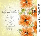 wedding invitation card with... | Shutterstock .eps vector #130443299