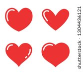 heart icon collection  love...   Shutterstock .eps vector #1304436121