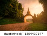 temple gate at dharma khao na... | Shutterstock . vector #1304437147