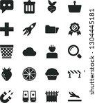 solid black vector icon set  ... | Shutterstock .eps vector #1304445181