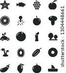 solid black vector icon set  ... | Shutterstock .eps vector #1304448661