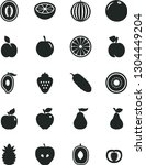 solid black vector icon set  ... | Shutterstock .eps vector #1304449204
