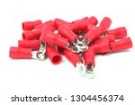 ring insulated wire connector... | Shutterstock . vector #1304456374