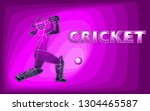 female cricket. abstract woman... | Shutterstock .eps vector #1304465587