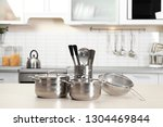 set of clean cookware and... | Shutterstock . vector #1304469844