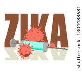 abstract virus image on...   Shutterstock .eps vector #1304488681