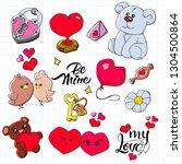 pattern of valentine's day... | Shutterstock .eps vector #1304500864