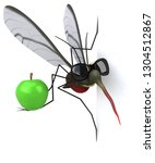 mosquito   3d illustration | Shutterstock . vector #1304512867