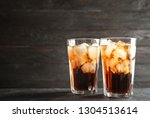 glasses of refreshing cola with ...   Shutterstock . vector #1304513614