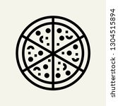 pizza concept line icon. simple ...
