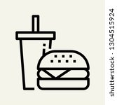 fast food concept line icon....