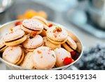 freshly baked delicious... | Shutterstock . vector #1304519134