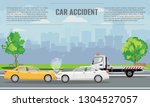 car crash or accident concept... | Shutterstock .eps vector #1304527057