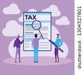 vector illustration. online tax ...