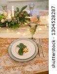 table setting family dinner | Shutterstock . vector #1304528287