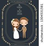 cute couple in wedding...   Shutterstock .eps vector #1304531581