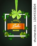 happy saint patrick's day frame ... | Shutterstock .eps vector #1304533804