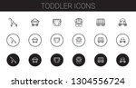 toddler icons set. collection... | Shutterstock .eps vector #1304556724