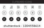 clipboard icons set. collection ... | Shutterstock .eps vector #1304558614