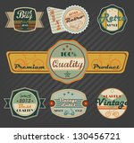 retro labels | Shutterstock .eps vector #130456721