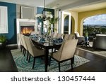 dinning room interior home... | Shutterstock . vector #130457444