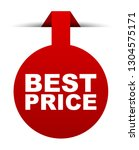 red vector banner best price | Shutterstock .eps vector #1304575171
