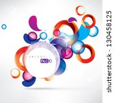 abstract circles colored design | Shutterstock .eps vector #130458125