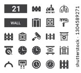 wall icon set. collection of 21 ...   Shutterstock .eps vector #1304589271