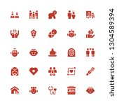 family icon set. collection of... | Shutterstock .eps vector #1304589394