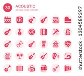 acoustic icon set. collection... | Shutterstock .eps vector #1304589397