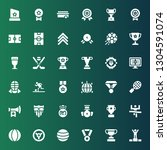 championship icon set.... | Shutterstock .eps vector #1304591074