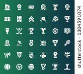 championship icon set.... | Shutterstock .eps vector #1304591074