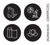 4 linear vector icon set  ... | Shutterstock .eps vector #1304591251