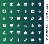 menu icon set. collection of 36 ... | Shutterstock .eps vector #1304592661