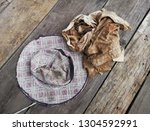 old hand made hats and dirty... | Shutterstock . vector #1304592991