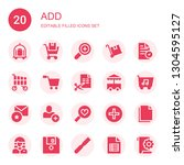 add icon set. collection of 20... | Shutterstock .eps vector #1304595127