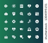emotion icon set. collection of ... | Shutterstock .eps vector #1304595151