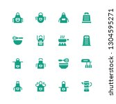 culinary icon set. collection... | Shutterstock .eps vector #1304595271