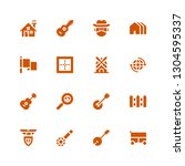 country icon set. collection of ... | Shutterstock .eps vector #1304595337